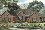 European Style House Plan - 4 Beds 2.5 Baths 2280 Sq/Ft Plan #17-2280 Exterior - Front Elevation