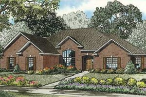European Exterior - Front Elevation Plan #17-2280