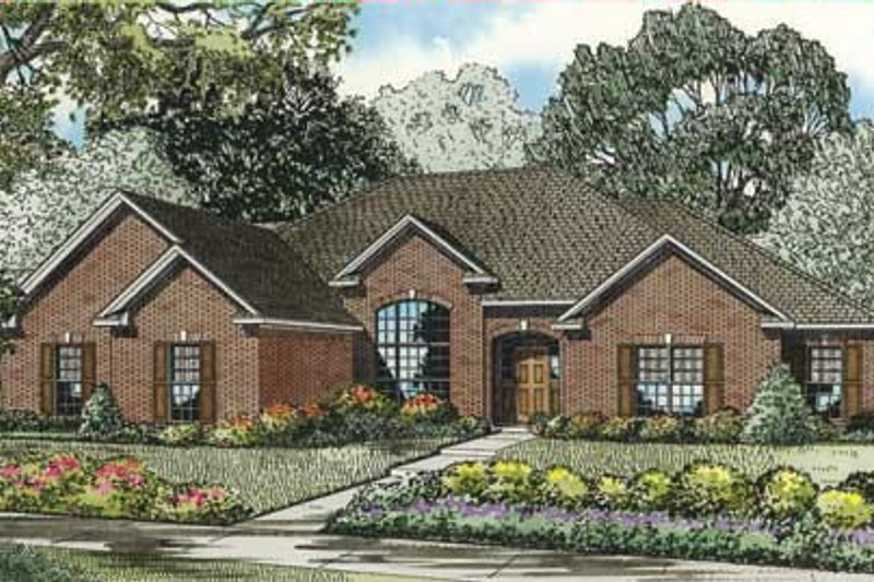 Dream House Plan - European Exterior - Front Elevation Plan #17-2280