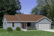 Ranch Style House Plan - 3 Beds 2 Baths 1158 Sq/Ft Plan #116-231 Exterior - Front Elevation