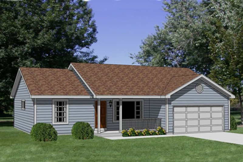 Ranch Style House Plan - 3 Beds 2 Baths 1158 Sq/Ft Plan #116-231