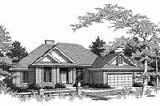 Traditional Style House Plan - 3 Beds 2 Baths 2256 Sq/Ft Plan #70-355 Exterior - Front Elevation
