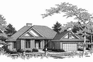 Traditional Exterior - Front Elevation Plan #70-355