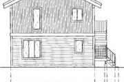 Traditional Style House Plan - 3 Beds 2 Baths 1248 Sq/Ft Plan #25-2280 Exterior - Rear Elevation