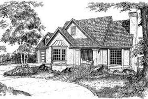 Traditional Exterior - Front Elevation Plan #322-128
