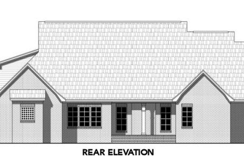 Traditional Exterior - Rear Elevation Plan #21-317 - Houseplans.com