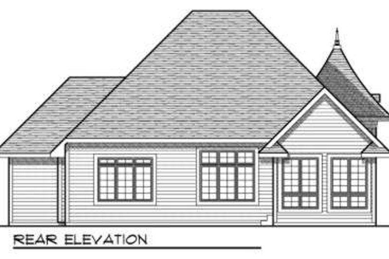 European Exterior - Rear Elevation Plan #70-709 - Houseplans.com