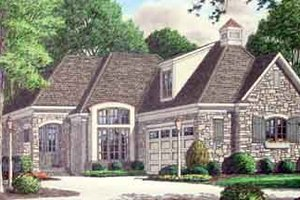 Cottage Exterior - Front Elevation Plan #34-180