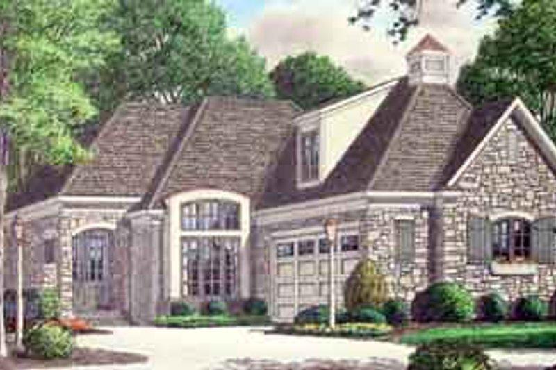 Cottage Exterior - Front Elevation Plan #34-180
