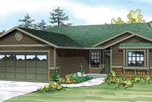 House Design - Ranch Exterior - Front Elevation Plan #124-888