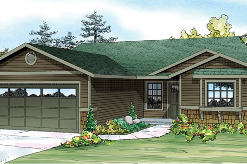 Home Plan - Ranch Exterior - Front Elevation Plan #124-888