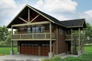 Craftsman Style House Plan - 1 Beds 1 Baths 896 Sq/Ft Plan #124-963 Exterior - Front Elevation