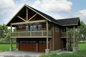 Craftsman Exterior - Front Elevation Plan #124-963