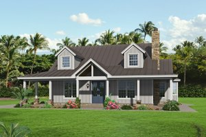 Country Exterior - Front Elevation Plan #932-349