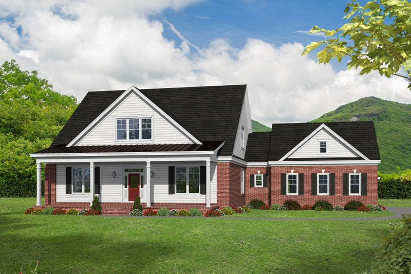 Country Exterior - Front Elevation Plan #932-278