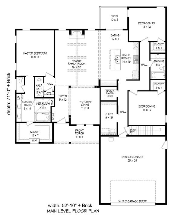 Dream House Plan - Cottage Floor Plan - Main Floor Plan #932-325