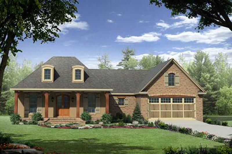 Architectural House Design - European Exterior - Front Elevation Plan #21-262