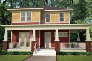Craftsman Exterior - Front Elevation Plan #461-15