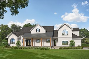 Dream House Plan - Farmhouse Exterior - Front Elevation Plan #938-109