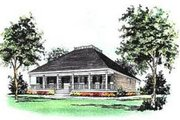 Farmhouse Style House Plan - 3 Beds 2 Baths 1704 Sq/Ft Plan #37-148 Exterior - Front Elevation