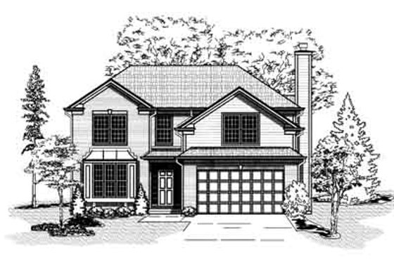 Traditional Exterior - Front Elevation Plan #9-105