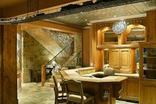 Wet bar in the basement of a Craftsman style home