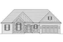 Home Plan - Ranch Exterior - Front Elevation Plan #46-872