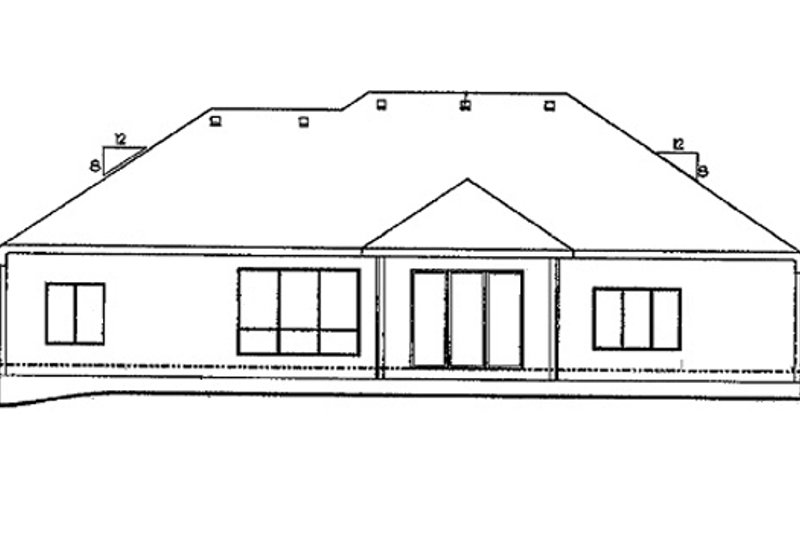 Traditional Exterior - Rear Elevation Plan #20-2057 - Houseplans.com
