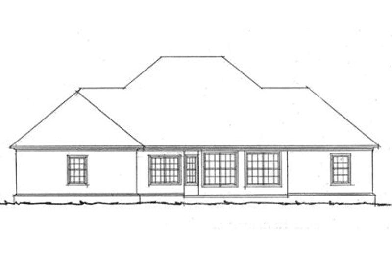 Southern Exterior - Rear Elevation Plan #20-332 - Houseplans.com