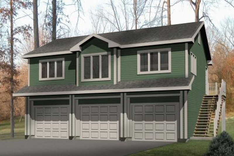 Architectural House Design - Traditional Exterior - Front Elevation Plan #22-402