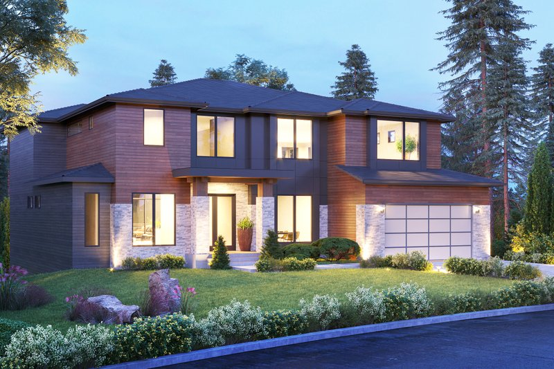 House Design - Contemporary Exterior - Front Elevation Plan #1066-139