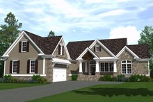 Architectural House Design - Ranch Exterior - Front Elevation Plan #1071-12