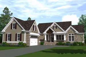 Ranch Exterior - Front Elevation Plan #1071-12