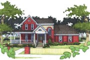Southern Style House Plan - 3 Beds 3 Baths 1994 Sq/Ft Plan #120-138 Exterior - Front Elevation