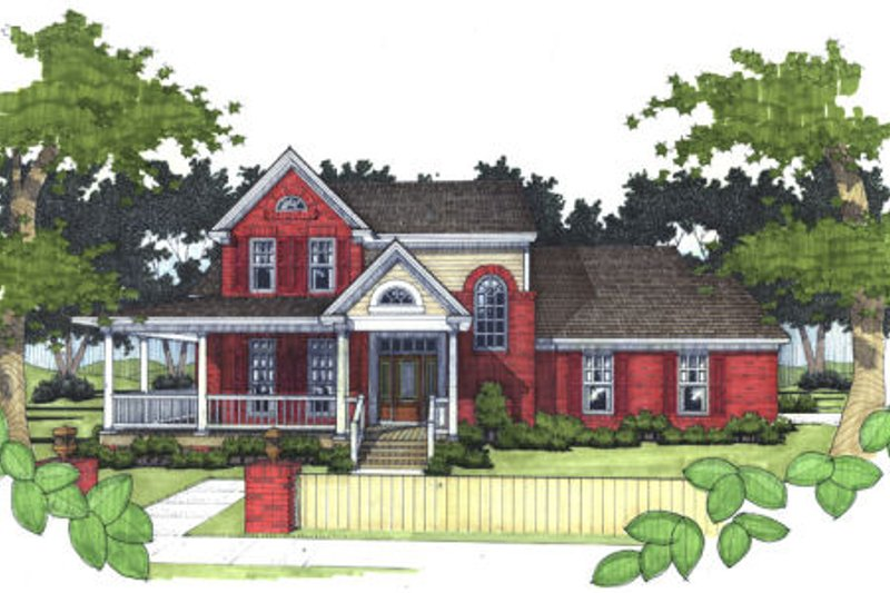 Southern Exterior - Front Elevation Plan #120-138 - Houseplans.com