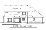 Craftsman Style House Plan - 3 Beds 2.5 Baths 2264 Sq/Ft Plan #20-2416 Exterior - Rear Elevation