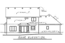 House Design - Craftsman Exterior - Rear Elevation Plan #20-2416