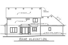 House Plan Design - Craftsman Exterior - Rear Elevation Plan #20-2416