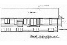Traditional Exterior - Rear Elevation Plan #58-189