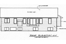 Home Plan - Traditional Exterior - Rear Elevation Plan #58-189