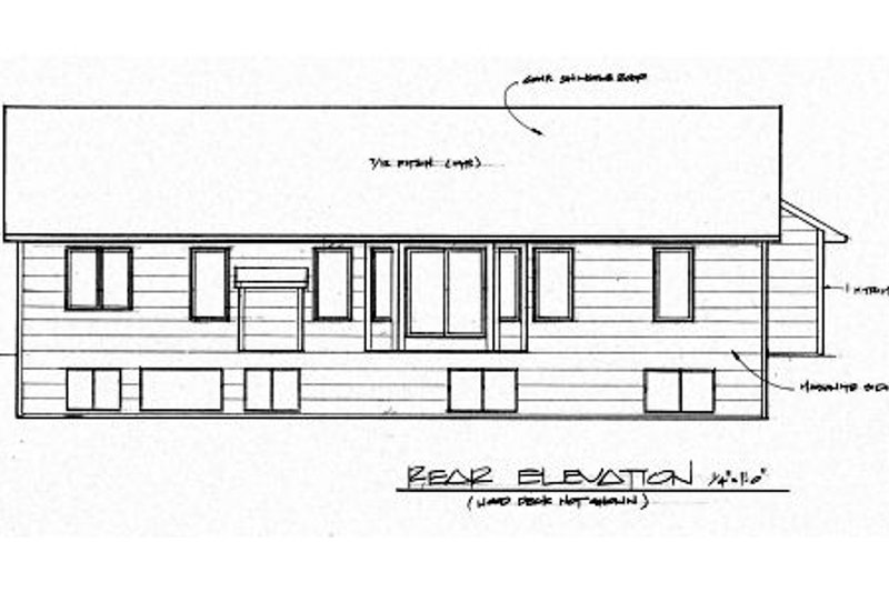 Traditional Exterior - Rear Elevation Plan #58-189 - Houseplans.com