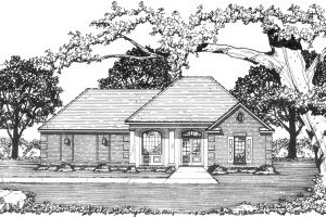 Cottage Exterior - Front Elevation Plan #36-304
