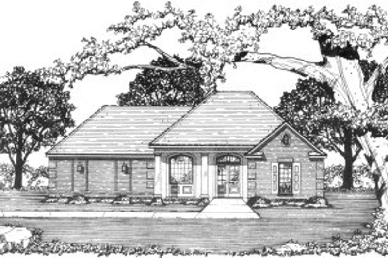 Cottage Style House Plan - 3 Beds 2 Baths 1281 Sq/Ft Plan #36-304