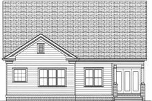 Dream House Plan - Victorian Exterior - Rear Elevation Plan #413-787