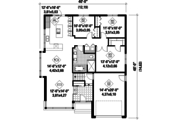 Contemporary Style House Plan - 3 Beds 1 Baths 1414 Sq/Ft Plan #25-4410 Floor Plan - Main Floor Plan