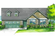 House Plan Design - Craftsman Exterior - Front Elevation Plan #53-611