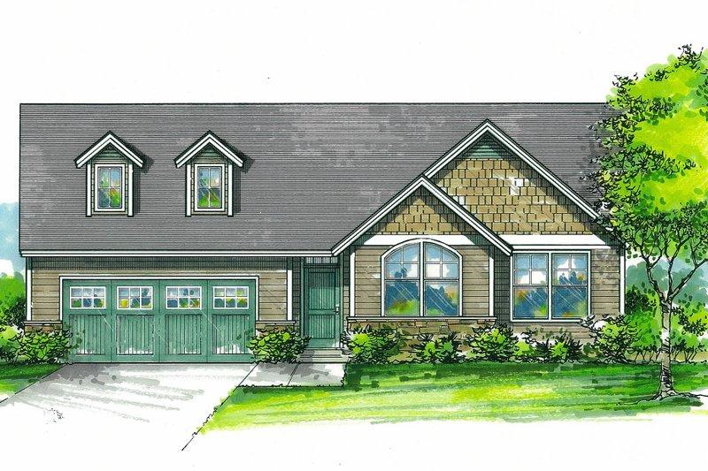 House Plan Design - Craftsman Exterior - Front Elevation Plan #53-611