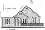 Country Style House Plan - 2 Beds 1 Baths 1056 Sq/Ft Plan #23-153 Exterior - Rear Elevation