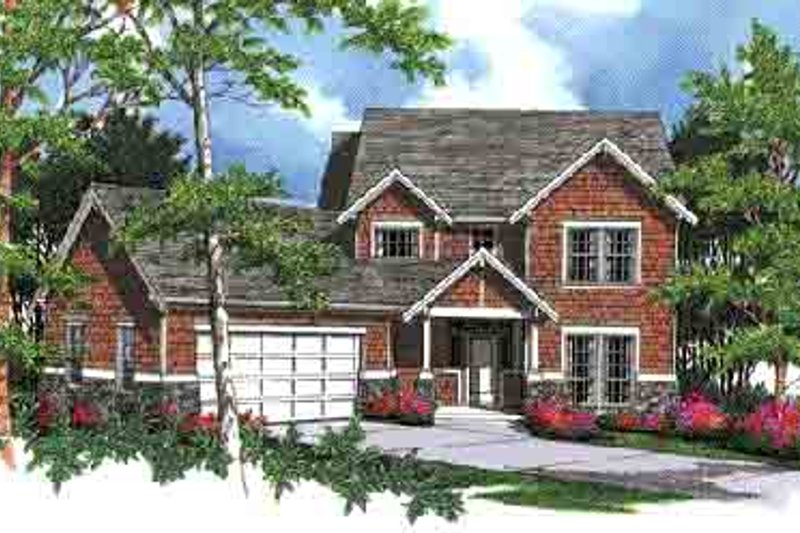 Craftsman Exterior - Front Elevation Plan #48-213
