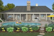 Craftsman Style House Plan - 3 Beds 3 Baths 1989 Sq/Ft Plan #56-717 Exterior - Rear Elevation